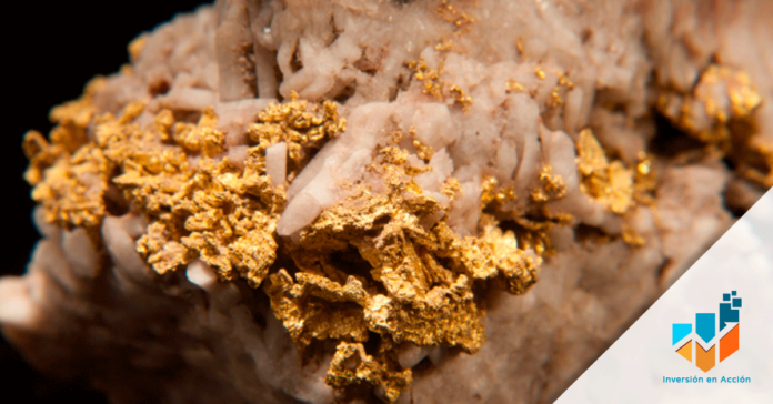 Imagen de oro, materia prima.